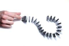 Dominoe с рукой Стоковая Фотография RF