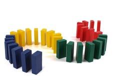 Dominoeffekt Arkivbild