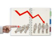 Dominoeffekt Lizenzfreies Stockfoto
