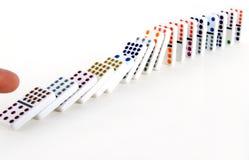 dominoeffekt Royaltyfria Bilder