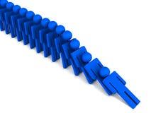 Dominoeffekt Stockbild