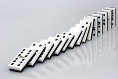dominoeffekt Arkivbilder
