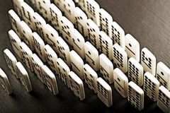 dominoeffekt Fotografering för Bildbyråer