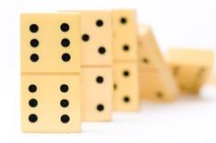 dominoeffekt Arkivfoto