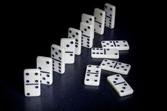 Dominoes. With the black background stock photo