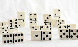 Dominoes. Black and white domino tiles Stock Images