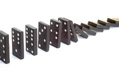 Dominoes. Domino effect royalty free stock images