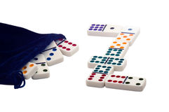 Dominoes. royalty free stock images