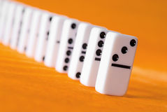 Dominoes stock photography