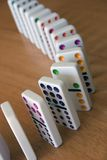 Dominoes. Row of Dominoes Stock Photography
