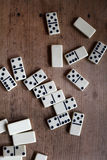 Dominoes. A scattered game of dominoes Stock Photography