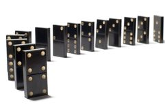 Dominoes. Series object on white: isolated -dominoes Stock Photography
