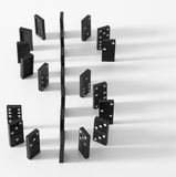 Dominoes. In the form of dollar sigh Stock Images