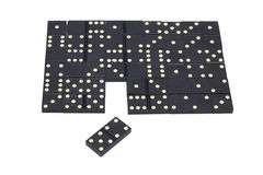 Dominoes. In the form of puzzle Royalty Free Stock Image