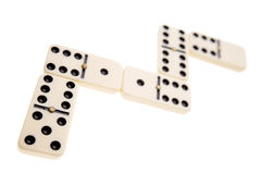 Dominoes. Joined together on white background Royalty Free Stock Photography