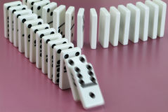 Dominoes. A dominoes game in action Royalty Free Stock Photo
