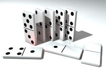 Dominoes. Domino is a funny game royalty free illustration