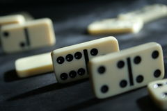 Dominoes. Game royalty free stock images