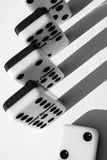Dominoes abstract Stock Photos