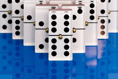 Dominoes on Blue Royalty Free Stock Photography