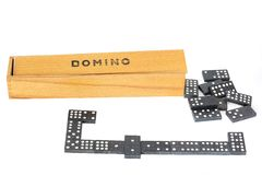 Dominoes. Board game with knuckles.  royalty free stock photos