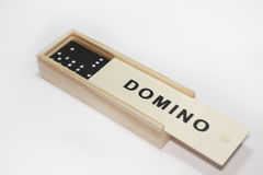 Dominoes in the box Stock Photo