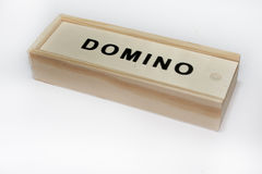 Dominoes in the box Royalty Free Stock Photography