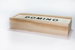 Dominoes in the box Stock Photography