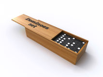Dominoes in a box Royalty Free Stock Photography