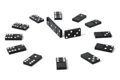 Dominoes clock Royalty Free Stock Images