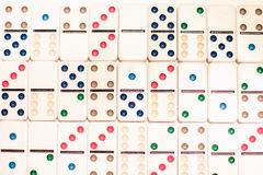 Dominoes with colored dots Stock Images