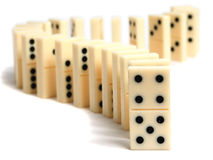 Dominoes concept Stock Image