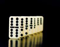 Dominoes counters Royalty Free Stock Photos
