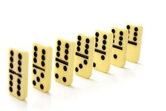 Dominoes counters Royalty Free Stock Photography