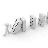Dominoes 3D Royalty Free Stock Photo
