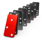 The dominoes Stock Images