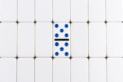 Dominoes - double 5 five Royalty Free Stock Photo