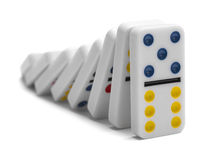 Dominoes Falling Royalty Free Stock Image