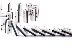 Dominoes falls Stock Photos
