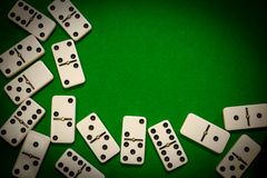 Dominoes frame stock photography