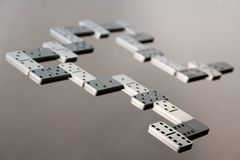 Dominoes game Stock Photos