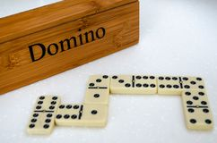 Dominoes on white background royalty free stock image