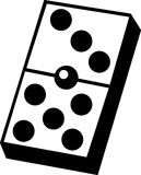 Dominoes game piece vector illustration. Vector illustration of a dominoes game piece Royalty Free Stock Photography