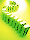 Dominoes in green, concept Stock Photos