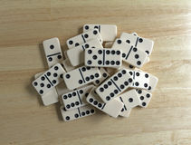 Dominoes Group Cluster Top View Jumble Stock Image