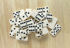 Dominoes Group Cluster Top View Stock Photos