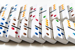 Dominoes - Knocked Over - Fall down Royalty Free Stock Image