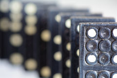 Dominoes macro Royalty Free Stock Images