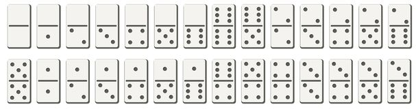 Free Dominoes Or Domino Tiles White Vector Isolated Mockups With Black Spots Number For Game On Transparent Background Royalty Free Stock Images - 132785629