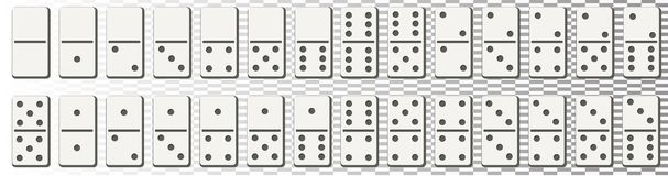 Free Dominoes Or Domino Tiles White Vector Isolated Mockups With Black Spots Number For Game On Transparent Background Stock Photo - 132785700